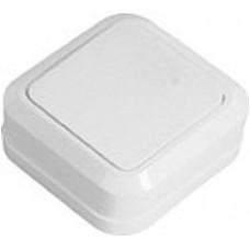 Выключатель 1-клавишный накладной Simply SD-10 белый ELM